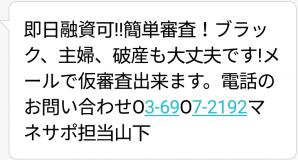マネサポからのメール画像