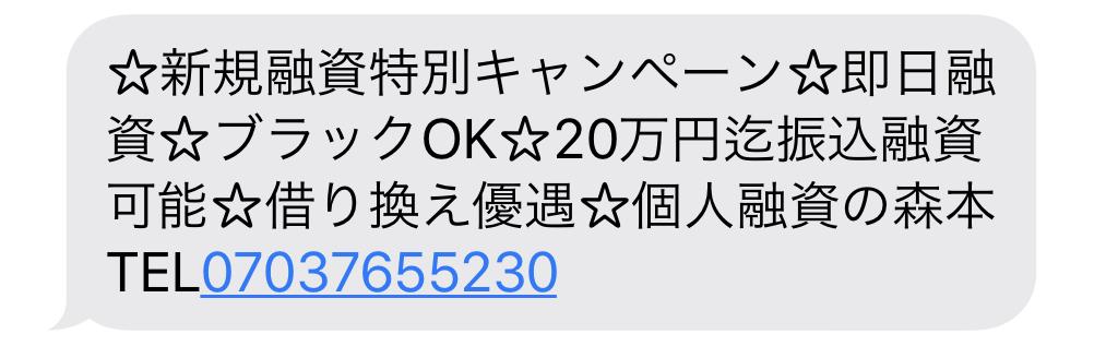 07037655230からのメール